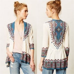 Anthropologie Knitted & Knotted Cleophee Cardigan